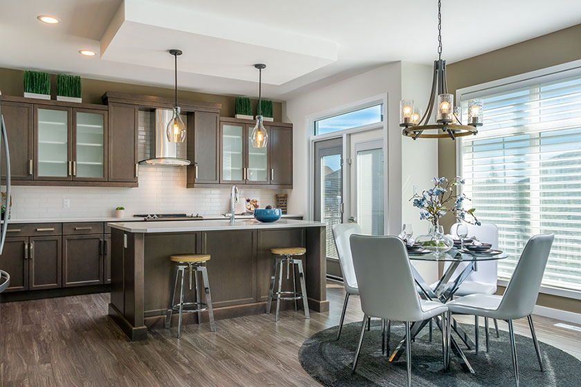 Kitchen and Dining - 135 Wildflower Way, Sage Creek | Avanti Custom Homes - Winnipeg - Manitoba