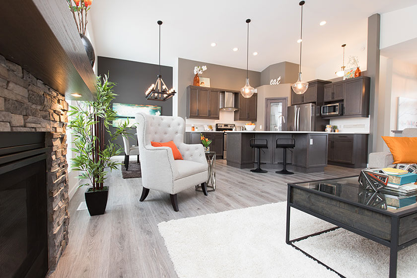 Kitchen and Dining - 21 Janakas Place, Taylor Farm | Avanti Custom Homes - Winnipeg - Manitoba