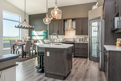 Great Room / Dining - 21 Janakas Place, Taylor Farm | Avanti Custom Homes - Winnipeg - Manitoba