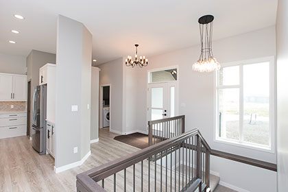 Great Room / Dining - 22 Southdown Lane, Taylor Farm | Avanti Custom Homes - Winnipeg - Manitoba