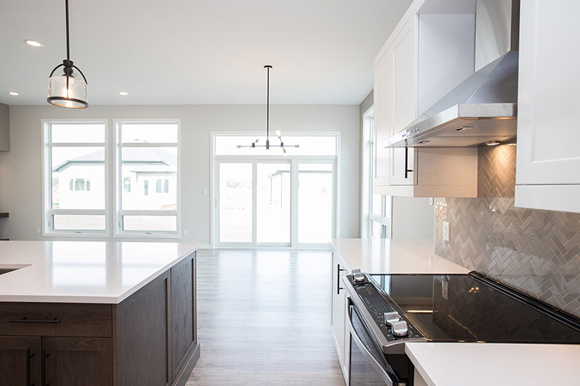 Kitchen and Dining - 22 Southdown Lane, Taylor Farm | Avanti Custom Homes - Winnipeg - Manitoba