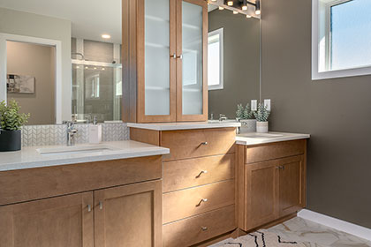 Ensuite Master Bathroom - 5 Erb Farm Road, Oak Bluff West | Avanti Custom Homes - Winnipeg - Manitoba