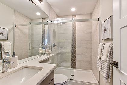 Master Ensuite Bathroom - 63 Lucerne Place, Bonavista | Avanti Custom Homes - Winnipeg - Manitoba