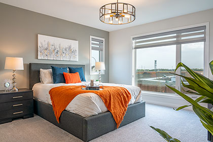 Master Bedroom - Show Home - RidgeWood West | Avanti Custom Homes - Home Builder - Winnipeg - Manitoba