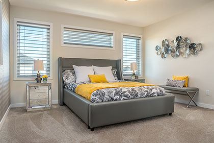 Master Bedroom Suite - Show Home - 56 West Plains Drive, Sage Creek | Avanti Custom Homes - Custom Homes - Winnipeg - Manitoba
