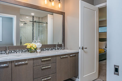 Master Ensuite - Show Home - 56 West Plains Drive, Sage Creek | Avanti Custom Homes - Home Builder - Winnipeg - Manitoba